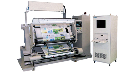 Rewinding equipment that can be installed on printing surface inspection equipment